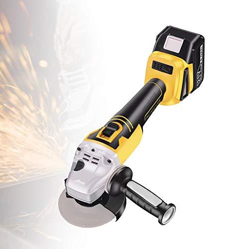 EFGS Mini Radial,Amoladora Angular Inalámbrica,moladoras Electricas con Batería, Mango Auxiliar, Llave, Dispositivo...
