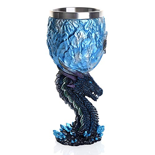 YUESUO Tazas, Canción de Hielo y Fuego Juego de Tronos estéreo Creativo de la Taza 3D de Grabado de Acero Inoxidable Vino Tinto Whisky de Cristal cáliz Tazas,6