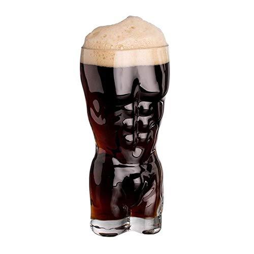 HAOAYOU Jarra Cerveza Taza de Copa de Vino Sexy Taza de Vino de Cerveza Clara para Despedidas de Soltero o Soltera Bebidas de Discoteca Vaso de chupito 15.5cm Hombre M