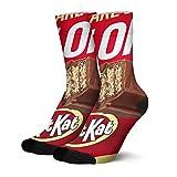 Men's Socks Durable Kit-Kat-AD- High Ankle Crew Socks