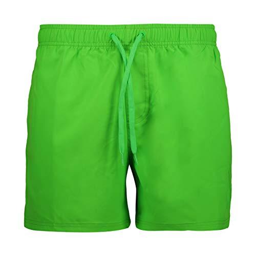 CMP Herren Costume da bagno colorato Stampato Boardshorts, Opacity, Verde Fluo, 50