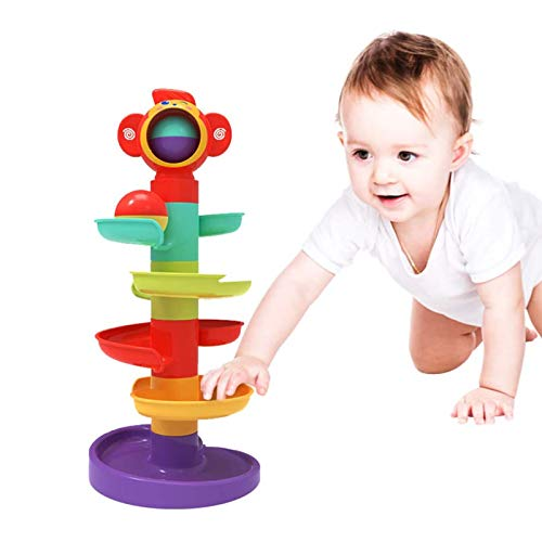 YGJT Baby Spielzeug ab 6 Monate Kugelbahn | Motorikspielzeug ab 1 Jahr mit 5 Schichte Ball Drop | Pädagogische Lernspielzeug für Jungen und Mädchen als Geburztag Geschenk Neu