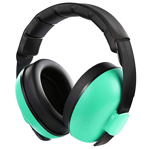 Baby Ear Protection Noise Cancelling Headphones Infant Hearing Protection Noise Reduction Baby Earmuffs for 0-3 Years Babies Toddlers Infant Sleeping Airplane Concerts Fireworks (Mint Green)