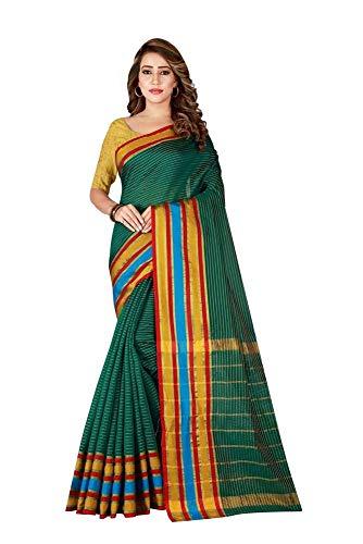 Indische Bollywood Hochzeit Saree indische ethnische Hochzeit Sari neue Kleid Damen lässig Tuch Geburtstag Ernte Top Mädchen Frauen schlicht traditionelle Party Wear Readymade Kostüm (green)
