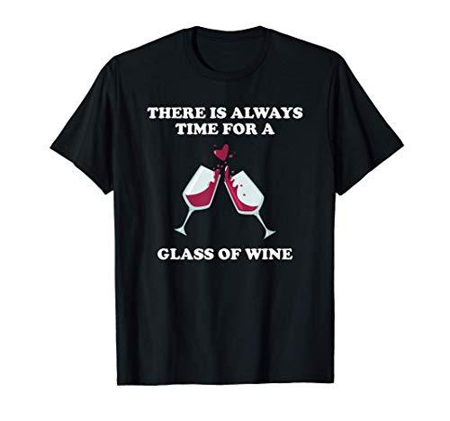 面白い飲酒仲間赤ワイン愛好家グラスワインギフト Tシャツ