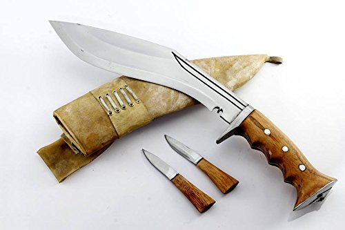 Echtes Gurkha Hand geschmiedete Kukri - 25cm Klinge Authentische britischen Gurkha irakischen Betrieb Gripper Blocker Khukuri Griff