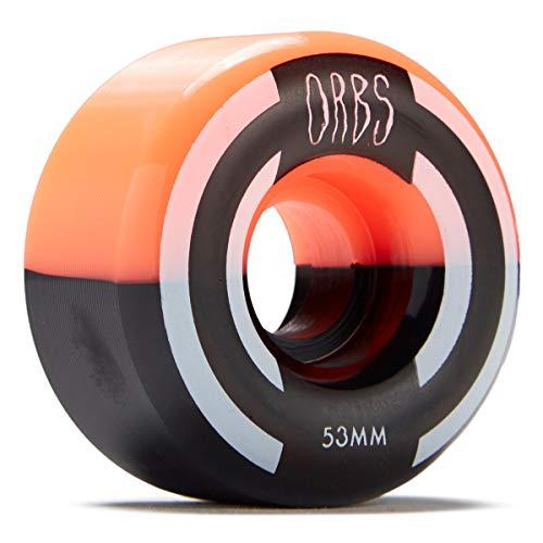 Welcome Orbs 99a Skateboard-Räder, 53 mm, Neonkorallenfarben/Schwarz