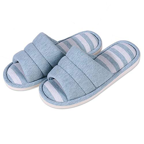 shevalues Women's Soft Indoor Slippers Open Toe Cotton Memory Foam Slip on Home Shoes House...