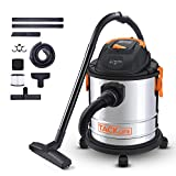 Shop Vac, TACKLIFE Wet Dry Vacuum, 5 Gallon, 5.5 Peak HP, 1000W Stainless Steel Dry/Wet/Blow Vac, Over 17 FT Clean Range, 4-Layer Filtration System, Functions for Cleaning Car and More-PVC02A