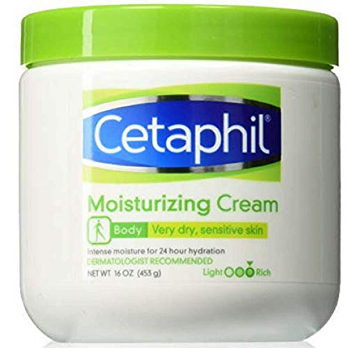 Cetaphil Moisturizing Cream for Dry, Sensitive Skin, Fragrance Free, Non-comedogenic (20 Oz)