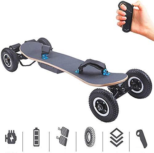 Elektrischer Longboard Off Road Elektro-Skateboard -Schneller und Feuerzeug & Thinner Longboard mit Fernbedienung, Mountainboard mit Dual-Motoren 24.84MPH Höchstgeschwindigkeit 30 km Reichweite