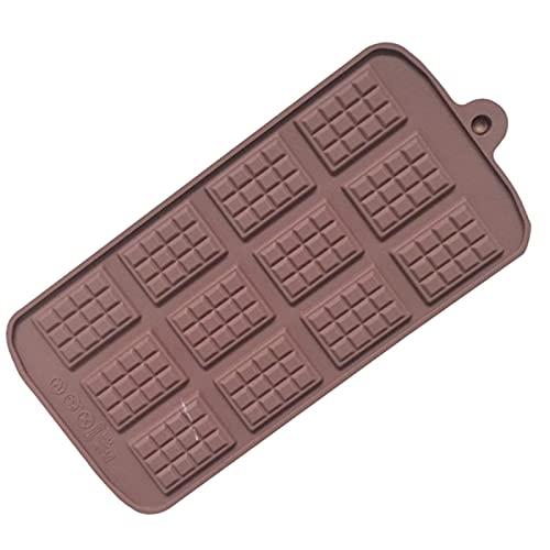Elnker Molde de silicona 12 moldes de chocolate uniformes para fondant DIY...