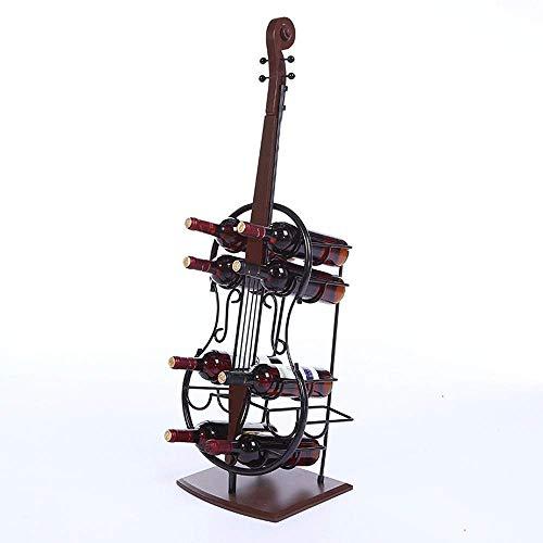 YLCJ Weinregal Freistehender Boden Metall, Weinregal Cello-Form Weinregal Stehboden Schrank Weinhalter Lagerung Freistehende Weinregal Weinlagerung