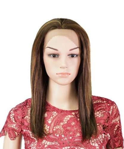 JANET Perruque de cheveux humains brésiliens Remy 100% humains avec dentelle sur le devant nouée à la main par Muse and Rose