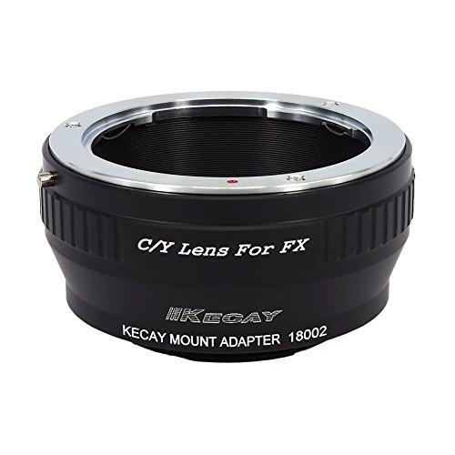 KECAY Anillo Adaptador de Objetivos C/Y Contax/Yashica para Cámaras Fujifilm FX-Monte Fuji FX X-Pro1 X-E1 X-E2 X-A1 X-M1 X-T1 X-T10 - Adaptador Lentes Contax/Yashica para Fujifilm FX CY-FX