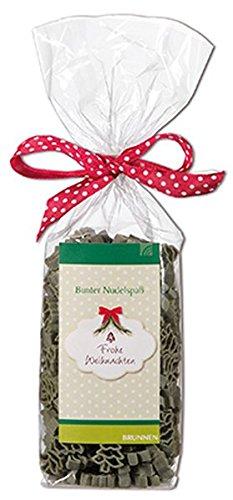 Frohe Weihnachten: Nudelpackung 200g, Nudeln in Tannen-Form