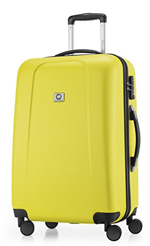 HAUPTSTADTKOFFER - Wedding - Hartschalenkoffer Trolley Rollkoffer Reisekoffer, TSA, Doppelrollen, 65 cm, 71 Liter, Gelb