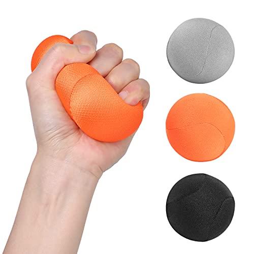 WD&CD Griffbälle 3er-Set, Hand-Therapie-Bälle, Handtrainer Fingertrainer zur Druckentlastung, Kräftigung von Hand und Finger und Lindert Gelenkschmerzen