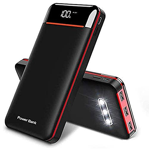 RLERON 25000mAh Portable Charger, Fast Charging Power Bank Wireless Charger with 3 Outputs & 2 Inputs, Ultra High Capacity with LCD Digital Display Compatible with iPhone,Samsung, iPad etc