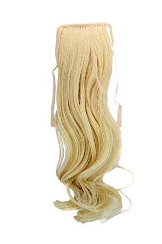 Postiche, queue étroite, queue de côté Cosplay, blond clair platine ondulé 18inch/ 45cm YZF-TC18-88 Band Extension capillaire à pince