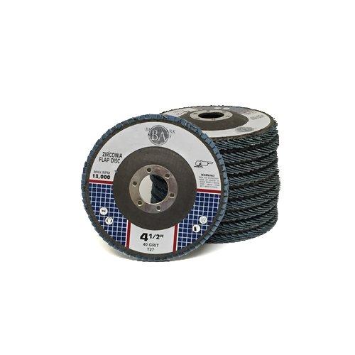 "4.5"" x 7/8"" Premium Zirconia Flap Discs Grinding Wheels 40 Grit Type 27-10 Pack"