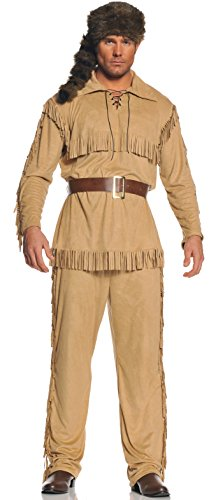 UNDERWRAPS mens Frontier Man adult sized costumes, Tan/Brown, One Size US