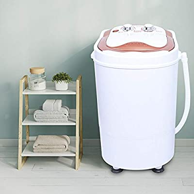 Mini Washing Machines, Portable Electric Single Tub Washing Machine Washer Spinner for Camping Dorms Apartments College Rooms, 54 x 35 x 34 cm, 2 KG, Pink