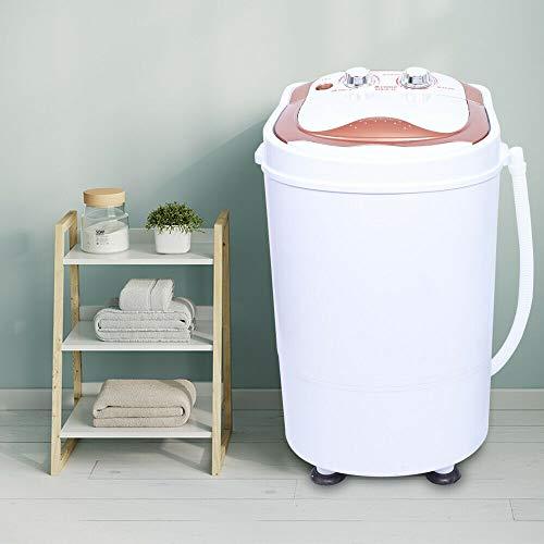 Mini lavatrice da 6 kg lavatrice da campeggio 240w lavatrice da viaggio con funzione automatica di lavaggio, asciugatura e disidratazione (oro rosa)