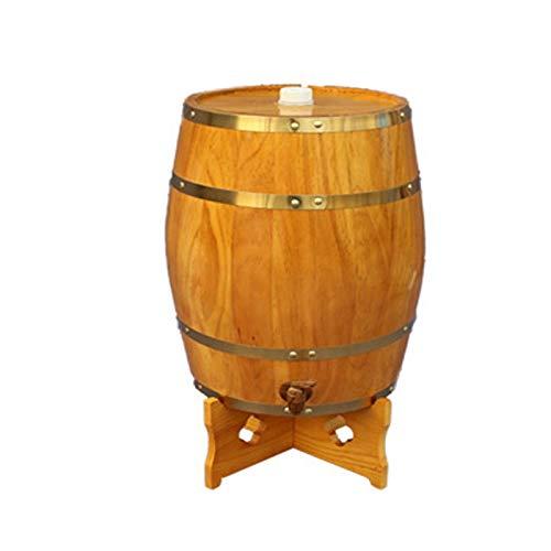 Barril de vino Vertical roble paneles, barriles de vino del roble de la vendimia, adecuados for decoración de la barra o for almacenar cerveza, vino tinto, Brandy, tequila, miel acético Etc. (con grif