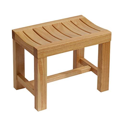 Sedia da Doccia per Vasca bambù Impermeabile Panchetta da Bagno Legna Sgabello ad Angolo per Interni o Esterni Aiuti di Sicurezza per Il Bagno, Indipendenza e stabilità