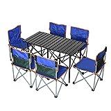 Juego de mesa y silla para exteriores Mesas y sillas portátiles para viajes sin conductor, sillas de camping portátiles para barbacoa, mesas y sillas plegables para picnic en la playa y montañismo