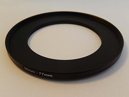 vhbw Adaptador de Filtro Step up 55mm-77mm Negro para cámaras Tamron 90...