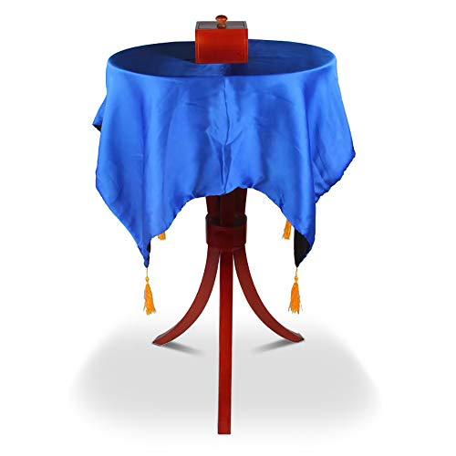Sumag Luxuriöser runder Trinity schwebender Tisch mit Anti-Schwerkraft-Box – Magic Tricks professionelle Zauberer Bühnenillusionen Gimmick Prop Floating Fly Magic