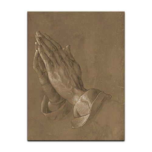 Poster - Albrecht Dürer Betende Hände 60x80 cm ca. A1 - Alte Meister Bild ohne Rahmen