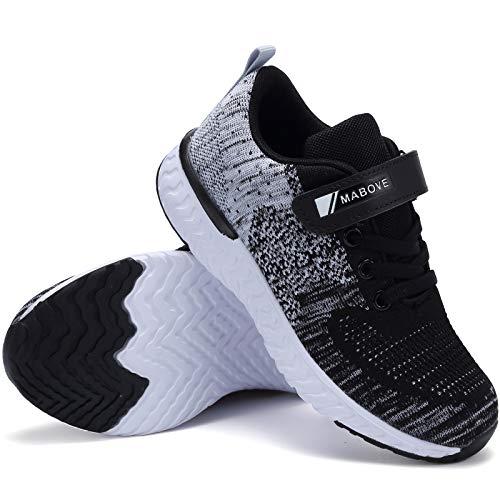 Zapatillas de Deporte para Niños Zapatillas de Correr Zapatos para Caminar al Aire Libre(YF64-Negro 33EU)