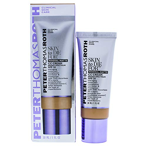 Peter Thomas Roth Skin To Die For Mineral Matte CC Cream SPF 30, Tan for Women, 1 Fl Oz