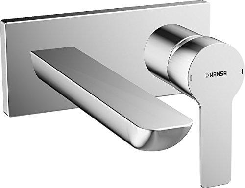 Hansa kant-en-klare montageset HANSALIGNA 44892103 voor wastafel-wandbatterij, projectie 190 mm, verchroomd