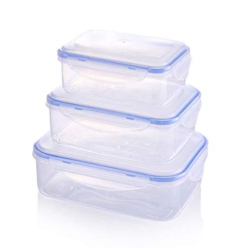 Lot de 3 boîtes de conservation pour aliments - Passe au micro-ondes et au congélateur