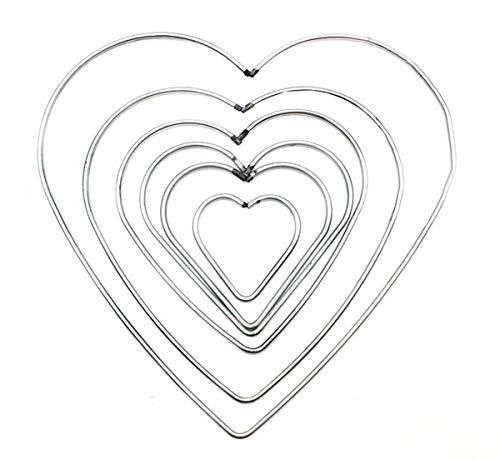 Biluer 12 Piezas Anillos de Metal Aros de Artesanio Macrame para Atrapasueños Manual de Artesanía de Mimbre Hechos A Mano de Bricolaje Material de la Herramienta Accesorios,6 Tamaños