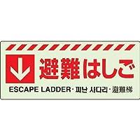 ↓避難はしごステッカー ユニット 831-43