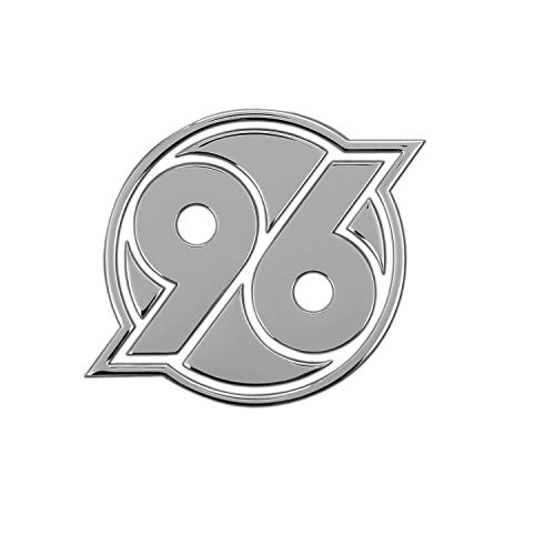 Hannover 96 Aufkleber - Chromlogo 3D - Sticker, Autoaufkleber Logo H96 - Plus Lesezeichen I Love Hannover