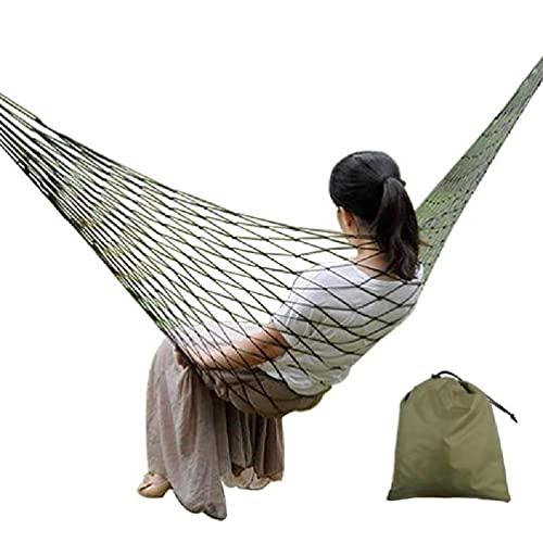 EATAN Hamaca de nylon portátil para colgar una sola cama de dormir para acampar hamaca columpio silla para adultos