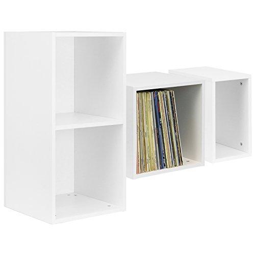 Hartleys Vinyl-Aufbewahrungskasten für die Schallplattensammlung, in Weiß