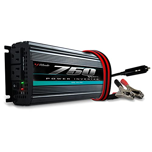 Schumacher DC to AC Digital Power Inverter for Cars - 750W - with AC Power Outlets to Power Devices and Accessories