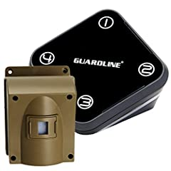 "DEPENDABLE HOME SECURITY SYSTEM: Guardline offers the most RELIABLE and ACCURATE outdoor motion detector on the market today. False alarms are minimized due to an adjustable detection width option for the sensor ""eye"" and a swivel mount to focus the ..."