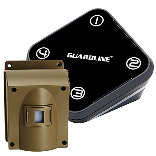 Guardline Wireless Driveway Alarm Outdoor Weather Resistant Motion Sensor & Detector- Best DIY...