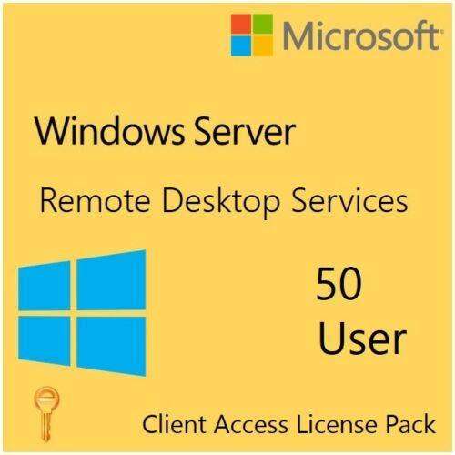 Windows Server 2016 Remote Desktop Services RDS 50 User Cal Digitale Lieferung