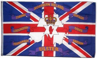 Flaggenfritze Fahne/Flagge Großbritannien Nordirland 6 Provinzen + gratis Sticker
