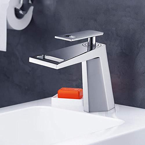 Koperen wastafel wastafel waterkraan hete en koude badkamerkast waterkraan waterval waterkraan wit