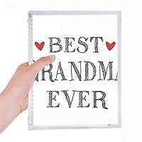 これまでに最高のおばあちゃんの親戚の引用 硬質プラスチックルーズリーフノートノート
